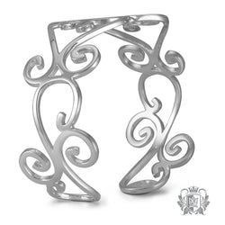 Scrolled Bangle - Metalsmiths Sterling'Ñ¢ Canada