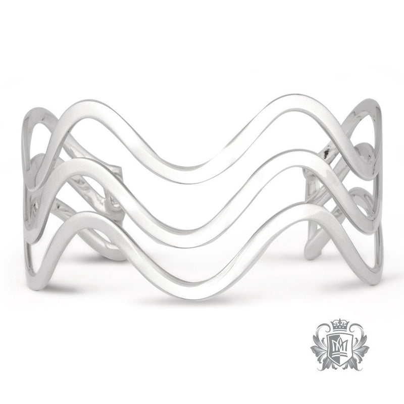 Triple Wave XL Cuff Bangle - Metalsmiths Sterling™ Canada