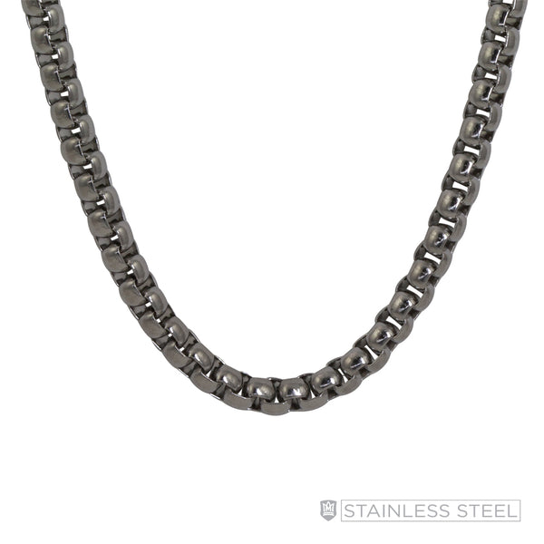 Rounded Box Stainless Steel Chain