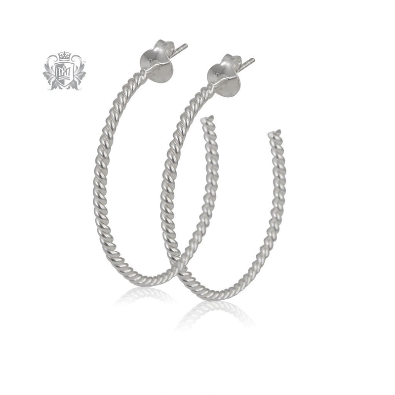 Bubble Twist Hoops - Large