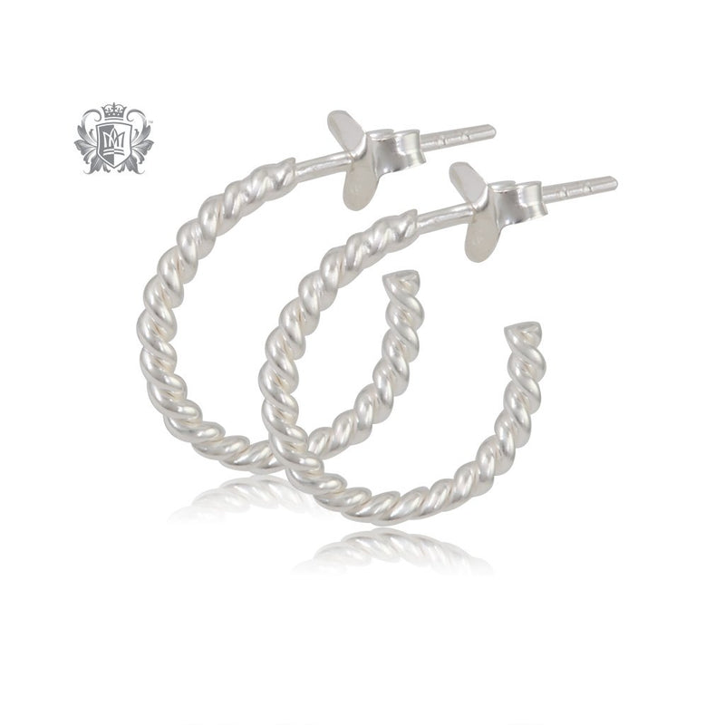 Bubble Twist Hoops - Small