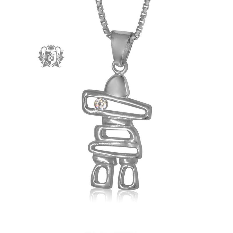 Inukshuk Pendant with Cubic