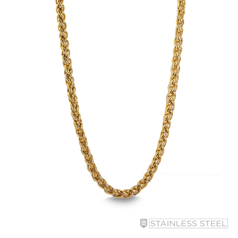 Foxtail Gold Fused Stainless Steel Chain