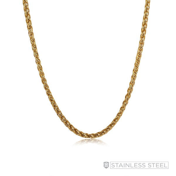 Diamond Cut Anchor Gold Fused Stainless Steel Chain