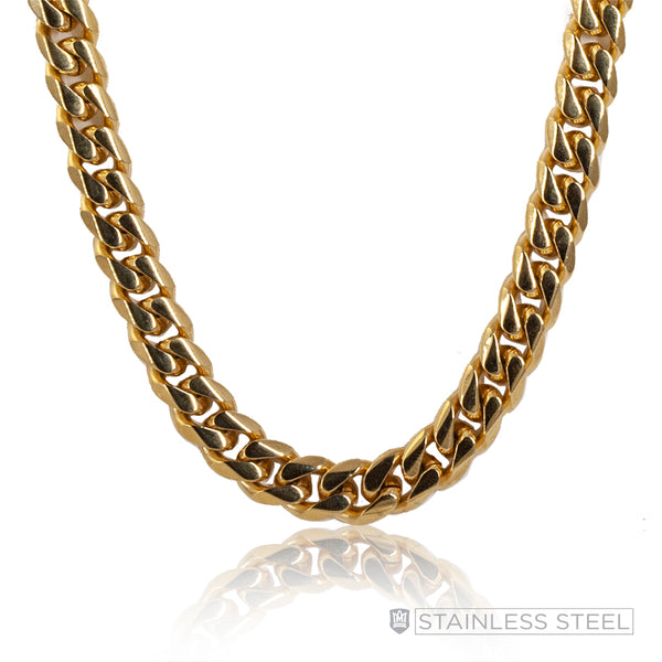 Gold Fused Stainless Steel Curb Chain