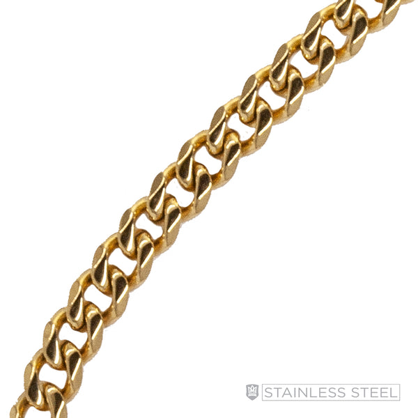 Curb Gold Fused Stainless Steel Chain