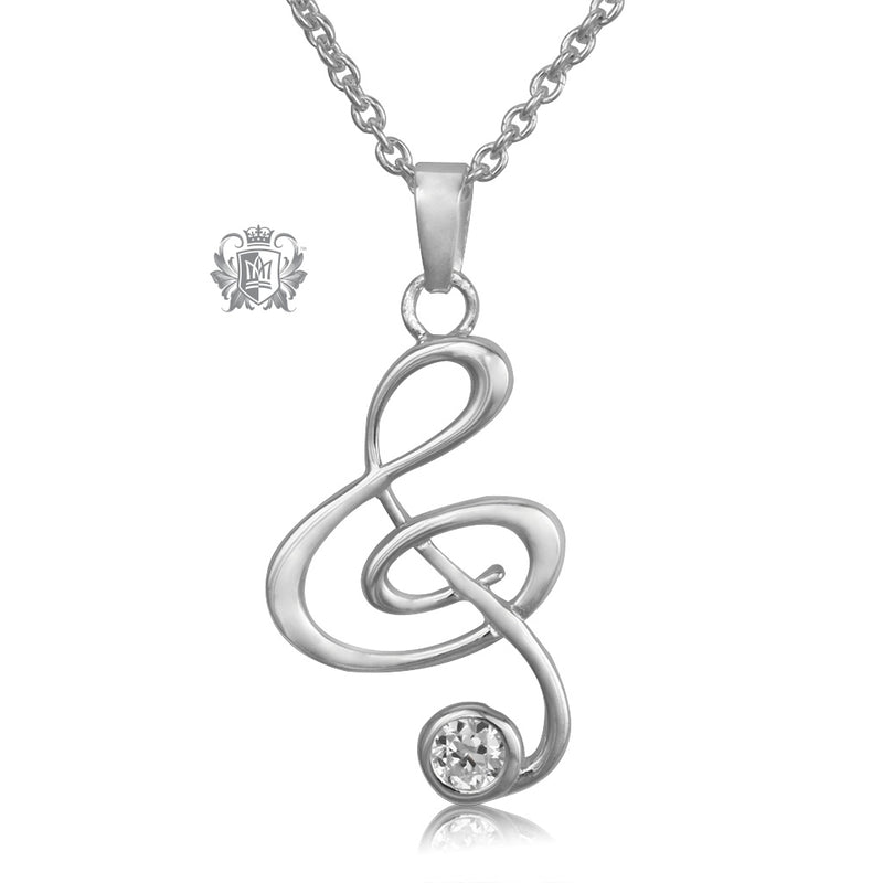 Music necklace with cubic