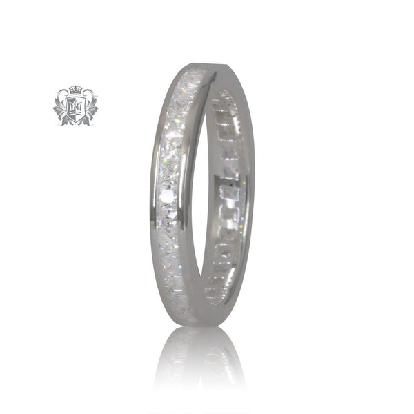 Cubic Eternity Band Metalsmiths Sterling Silver