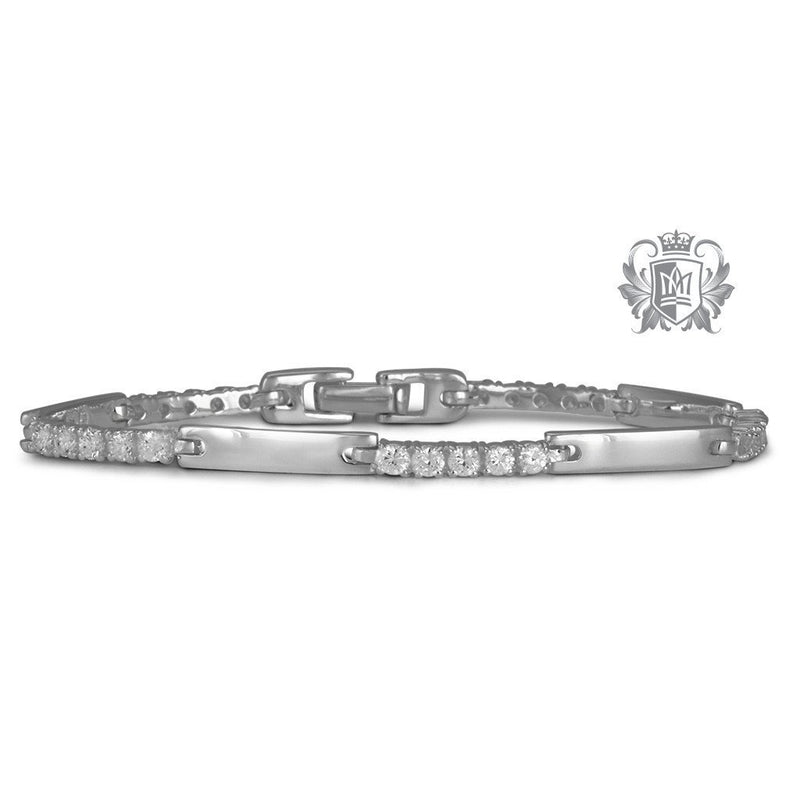 Prong Set Cubic Bracelet - Metalsmiths Sterling™ Canada