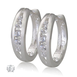 Sterling Silver Split Band Cubic Huggies - Metalsmiths Sterling䋢 Canada