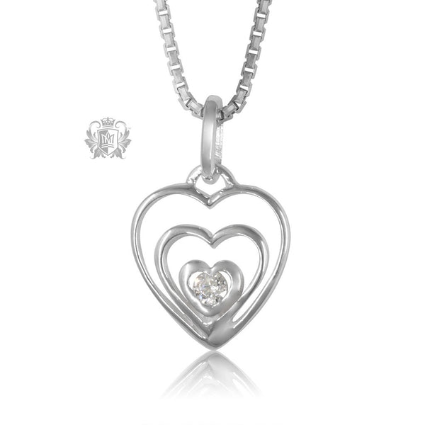 Triple Heart Cubic Pendant Metalsmiths Sterling Silver