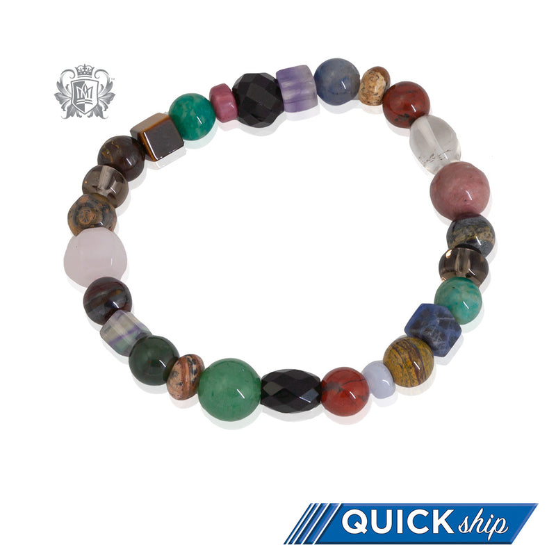 Small Artisan Crafted Natural Gemstone Bracelet
