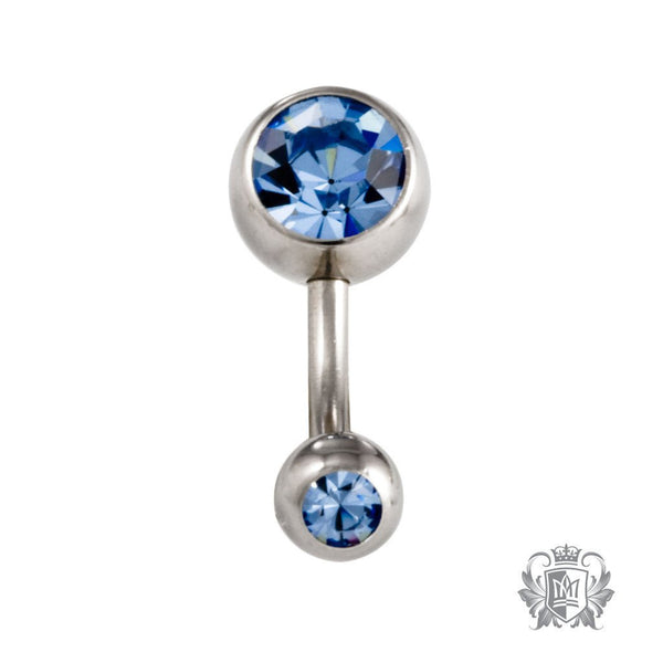 Double Jewel Belly Ring - Metalsmiths Sterling'Ñ¢ Canada