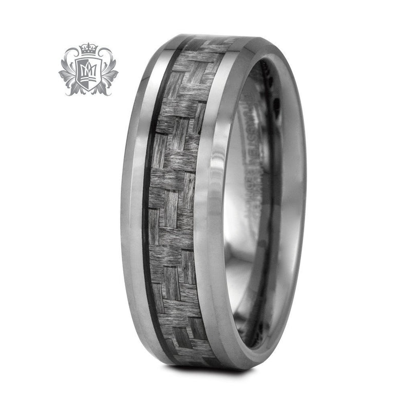 Limited Edition Grey Tungsten Carbon Fiber Band (His) - Metalsmiths Sterling䋢 Canada