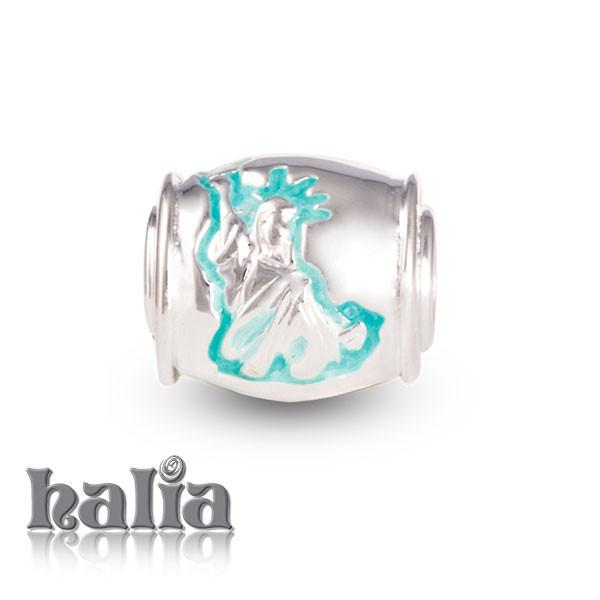 Statue of Liberty -  Sterling Silver with Enamel Beads