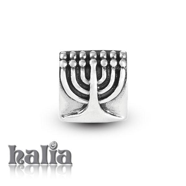 Menorah -  Sterling Silver Bead