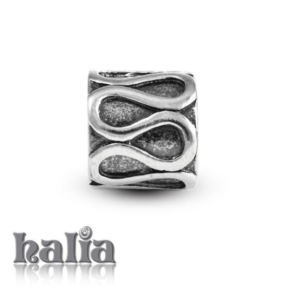 Rollercoaster -  Sterling Silver Bead