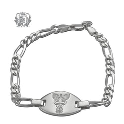 Emergency Medical Identification Bracelet (Large) - Metalsmiths Sterling'Ñ¢ Canada
