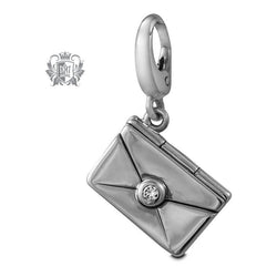Cubic Love Note Charm (Opens) -  Charm