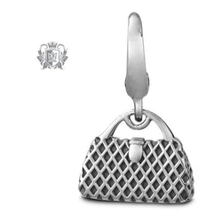 Textured Fashion Handbag Charm -  Charm