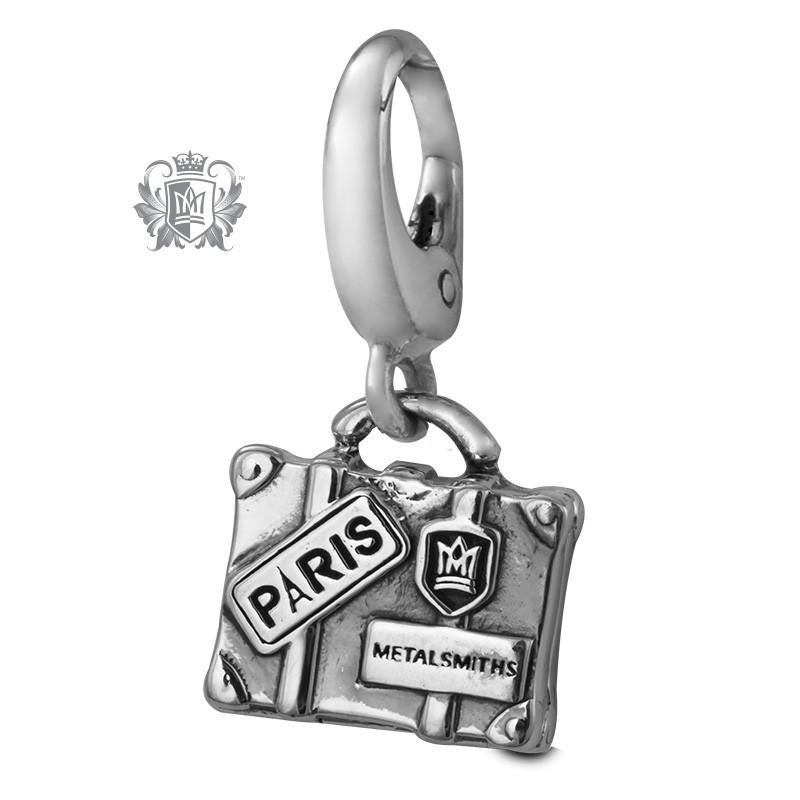Vintage Travel Suitcase Charm -  Charm - 1
