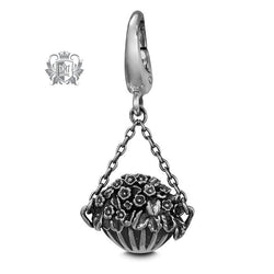 Hanging Flower Basket Charm -  Charm