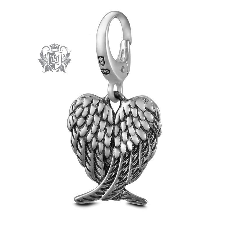 Crossed Angel Wings -  Charm