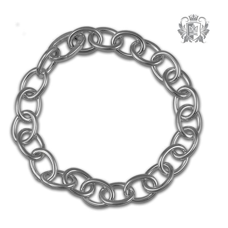 Oval Rolo Charm Bracelet - Metalsmiths Sterling'Ñ¢ Canada