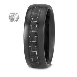 Tungsten Electro Black Carbon Band - Metalsmiths Sterling䋢 Canada
