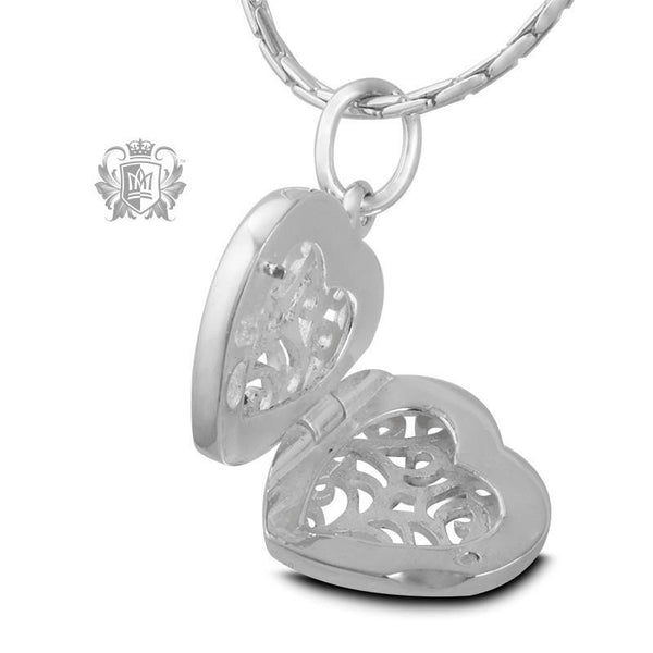 Scroll Heart Locket - Metalsmiths Sterling'Ñ¢ Canada