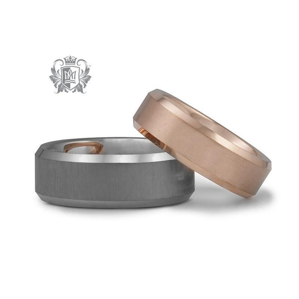 Rose Gold Coloured Comfort Fit Tungsten Band (6.5mm) - Metalsmiths Sterling'Ñ¢ Canada