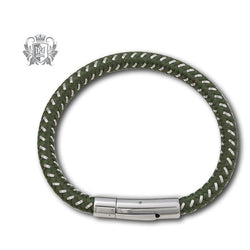 Olive Green Stainless Steel Cable Bracelet - Metalsmiths Sterling™ Canada