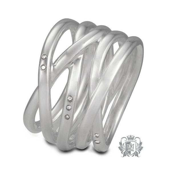 Divine Tangle Ring with Diamond Accents - Metalsmiths Sterling™ Canada