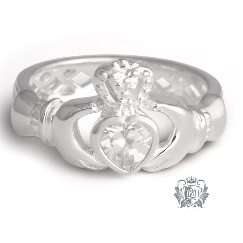 Weave Back Cubic Claddagh Ring - Metalsmiths Sterling'Ñ¢ Canada