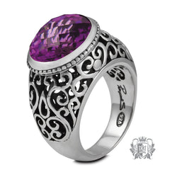 Oval Amethyst Ring - Metalsmiths Sterling™ Canada