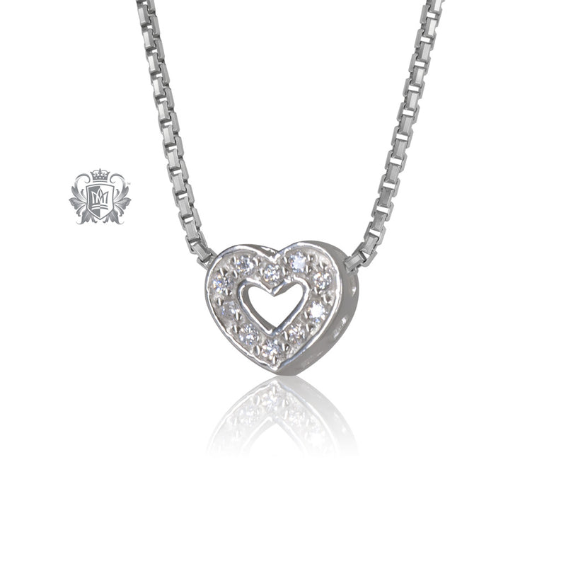 Small Pave Heart Pendant