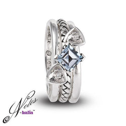 Sea Princess Stacking Ring Set - Metalsmiths Sterling䋢 Canada