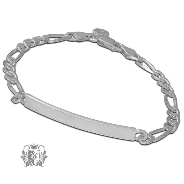 Medium Figaro ID Bracelet (120 gauge) - Metalsmiths Sterling'Ñ¢ Canada