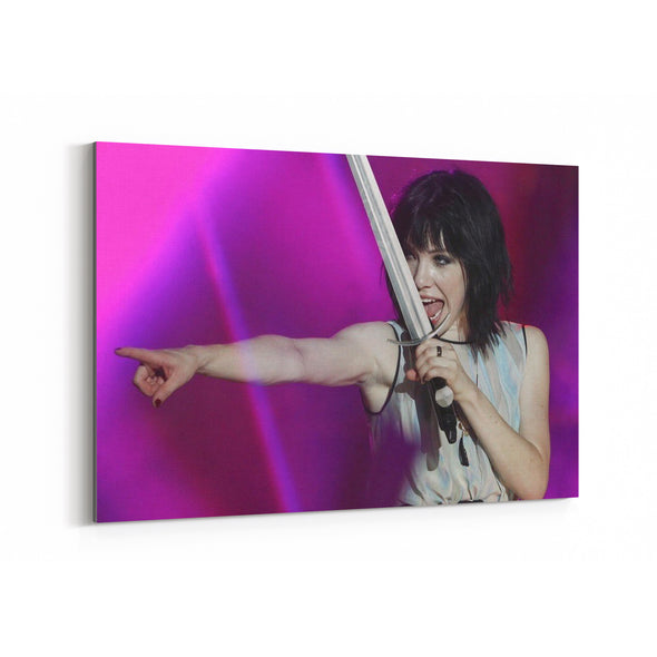 carly rae jepsen with a sword