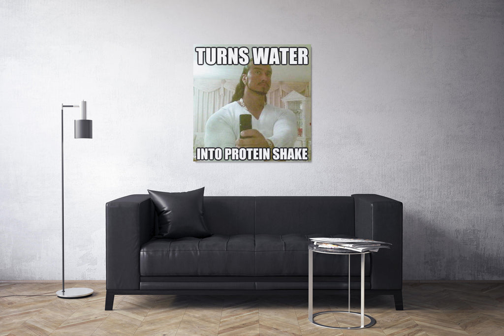 turns water into protein shake
