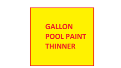 Rubber based pool paint thinner