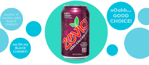 Zevia - Soda  Black Cherry  Natural (can)