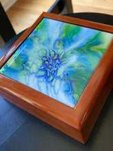 Load image into Gallery viewer, Blue Honeycomb Keepsake Box