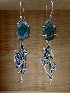 Labradorite Silver Earrings
