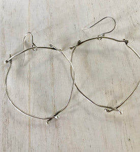 Sterling silver wonky twig earrings