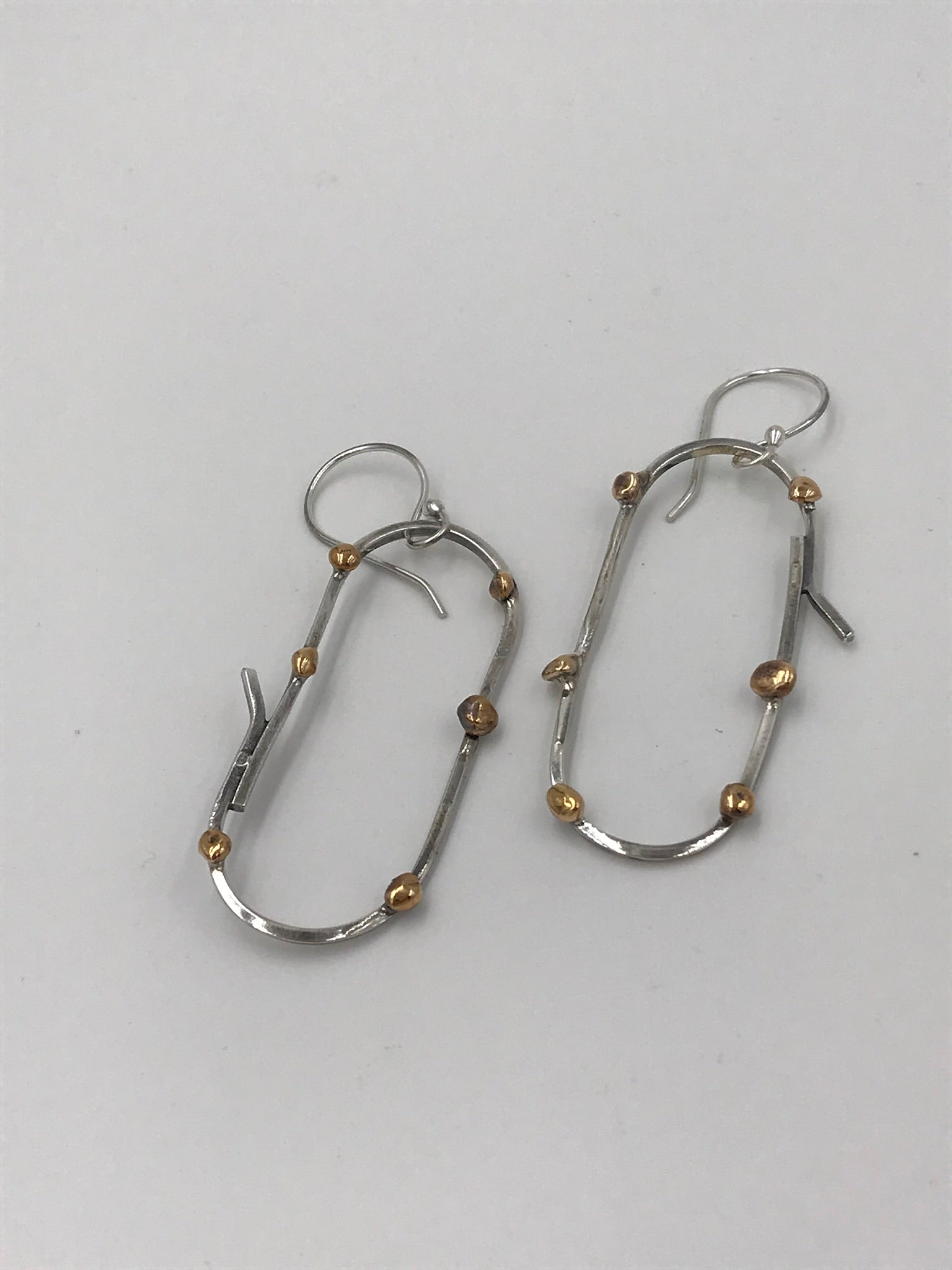 Olivia Earrings with Brass