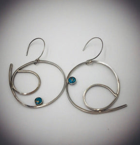 Asymmetrical Silver Earrings