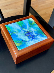 Blue Honeycomb Keepsake Box