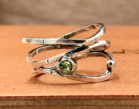 Triple Stacked Peridot Ring