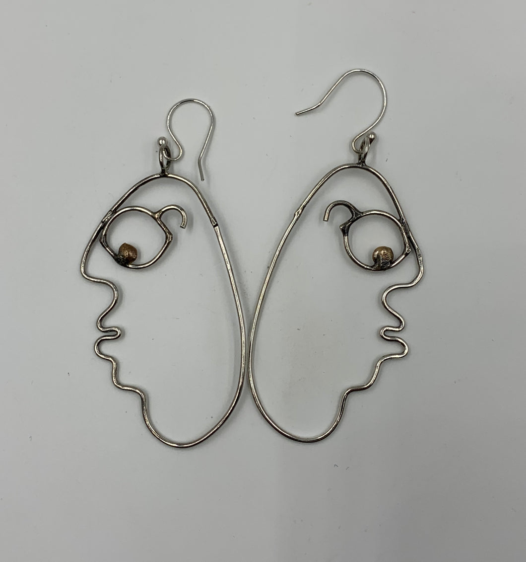 Goggly Face Earrings